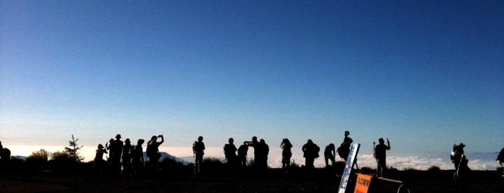 富士登山にも、しっかりガーゼタオル